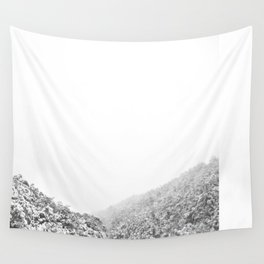 Snowy valley Wall Tapestry