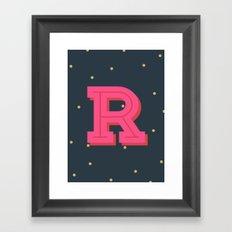 R is for Rad Framed Art Print