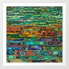 :: Technicolor Walkway :: Art Print