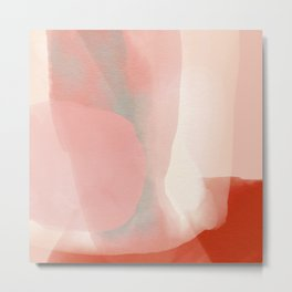 soft rose pink light rouge abstract Metal Print
