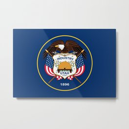 Utah State Flag - Authentic version Metal Print