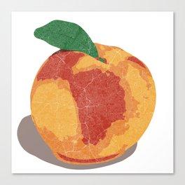 Peach Map Canvas Print