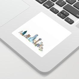 downtown dallas skyline Sticker