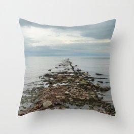 Pier Remnants Throw Pillow