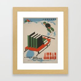 Vintage poster -  A Year of Good Reading Ahead Framed Art Print
