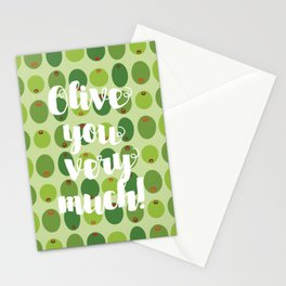 Olive You Very Much Stationery Cards