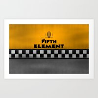 fifth element Art Prints featuring The Fifth Element by kevonicus
