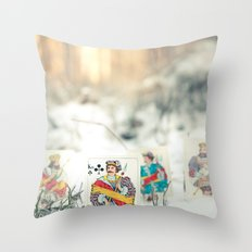 Jack of Clubs, 52 cards Throw Pillow