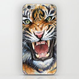 Tiger Roaring Wild Jungle Animal iPhone Skin