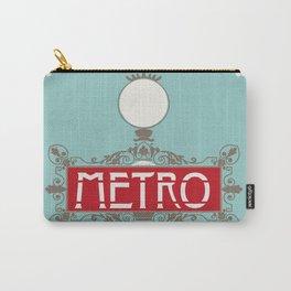 Vintage Paris Metro Sign Art Print Carry-All Pouch