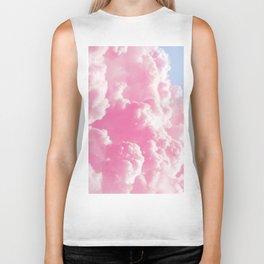 Retro cotton candy clouds Biker Tank