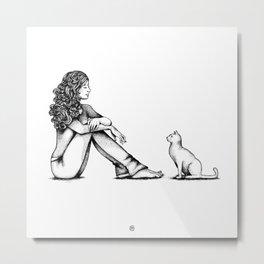Nonverbale Communication Metal Print