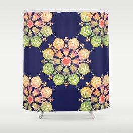 Indigo Flower Shower Curtain