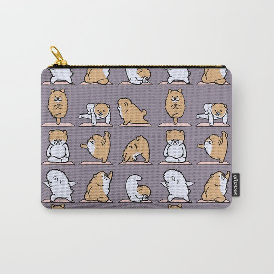 Pomeranian yoga Carry-All Pouch