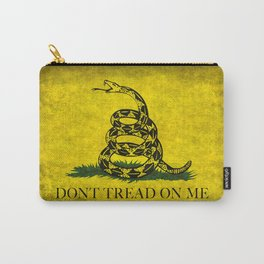 Gadsden Flag, Don't Tread On Me in Vintage Grunge Carry-All Pouch
