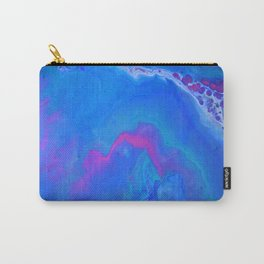 Fantasy II - Bright Sapphire Blue Ultra Violet Purple Fluid Abstract Carry-All Pouch