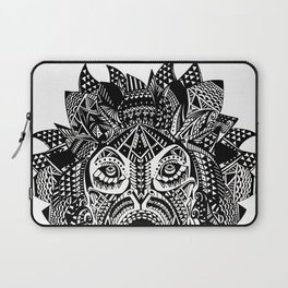 Tribal Inspired Lion ink illustration Laptop Sleeve