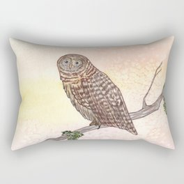 Barred Owl Watercolor Rectangular Pillow