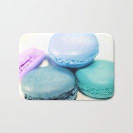 Macarons / macaroons Teal Blue Lavender Bath Mat