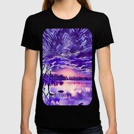 Cloudy Morning Sunrise on the Lake T-shirt