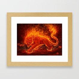 Flame Beast Framed Art Print