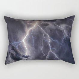 Stormy Weather - Purple Rectangular Pillow