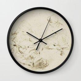 Rembrandt - Kleine studie van de kop van een zieke vrouw Wall Clock
