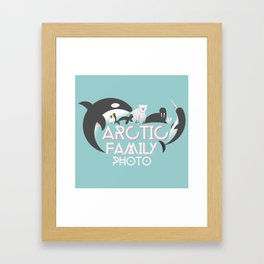 Arctic Family Photo Framed Art Print