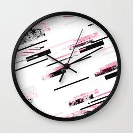 love stripes / black & pink Wall Clock