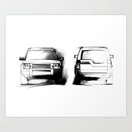 Discovery 3 - LR3 Art Print