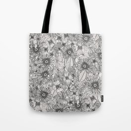 pencil flowers Tote Bag