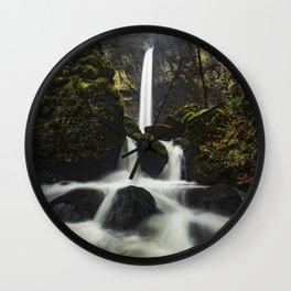 Elowah Falls, Horizontal Wall Clock