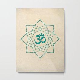Om Symbol Lotus Flower Art Print Metal Print