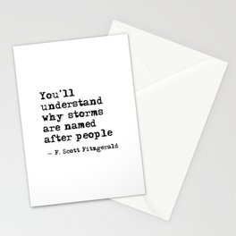 You'll understand why storms are named after people Stationery Cards