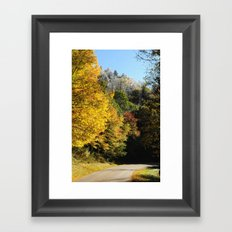 Down this road Framed Art Print