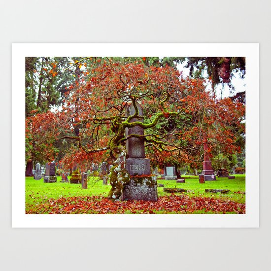 End of Autumn Art Print