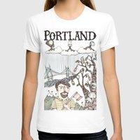 oregon T-shirts featuring Portland, Oregon by Brooke Weeber