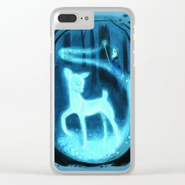 The Silver Doe Patronous Clear iPhone Case