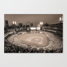 Home Field Advantage - Saint Louis Busch Stadium - Vintage Sepia Canvas Print