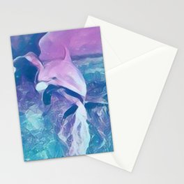 Dolphin Art Stationery Cards