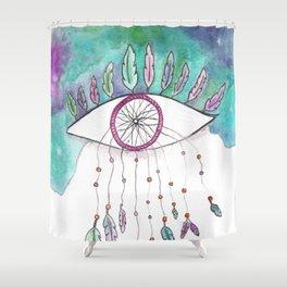 Endless Skies-Sea Glass Shower Curtain