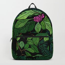 Green and Purple Beautyberry Illustration Backpack