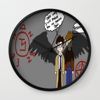 supernatural Wall Clocks featuring Supernatural  by Research&Development