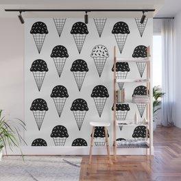 Ice Cream Black Tops Wall Mural