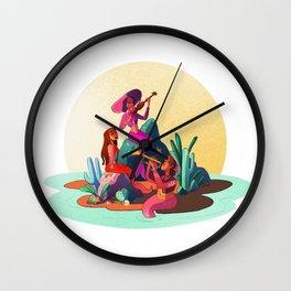 Mariachi Mermaids Wall Clock