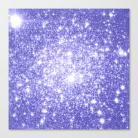 lavender Canvas Prints featuring Lavender Periwinkle Sparkle Stars by WhimsyRomance&Fun