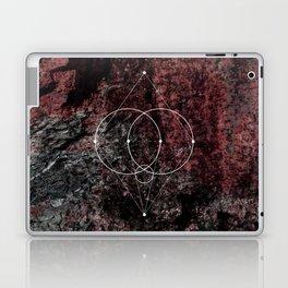Grey Circles geometry Laptop & iPad Skin