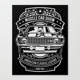 muscle car show american classic legend Canvas Print