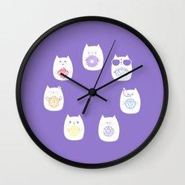 Chakra cats Wall Clock