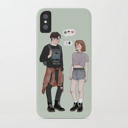 X-Files College AU iPhone Case